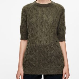 COS CABLE KNIT SHORT SLEEVE SWEATER